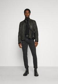 Strellson - DRIVER - Leather jacket - dark brown - 1