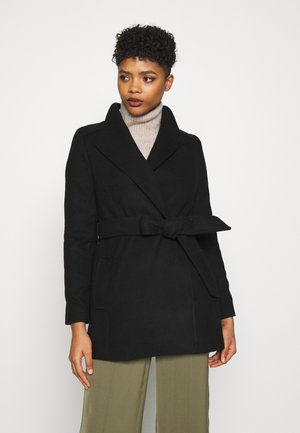 VIVIENNE SHORT WRAP - Short coat - black