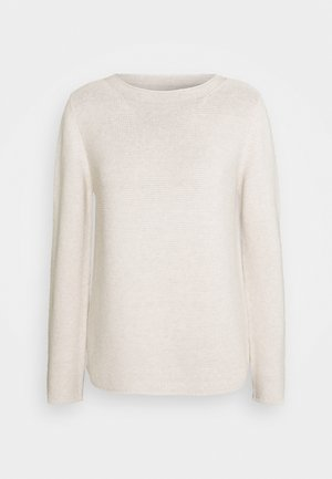 SMALL LINKED ON COLLAR - Jumper - sandy melange