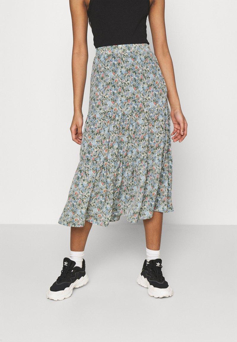 ONLY - ONLKENDALL SKIRT - A-line skirt - pumice stone/blue