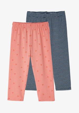 2ER-PACK - Leggings - Trousers - rosa+nachtblau gestreift