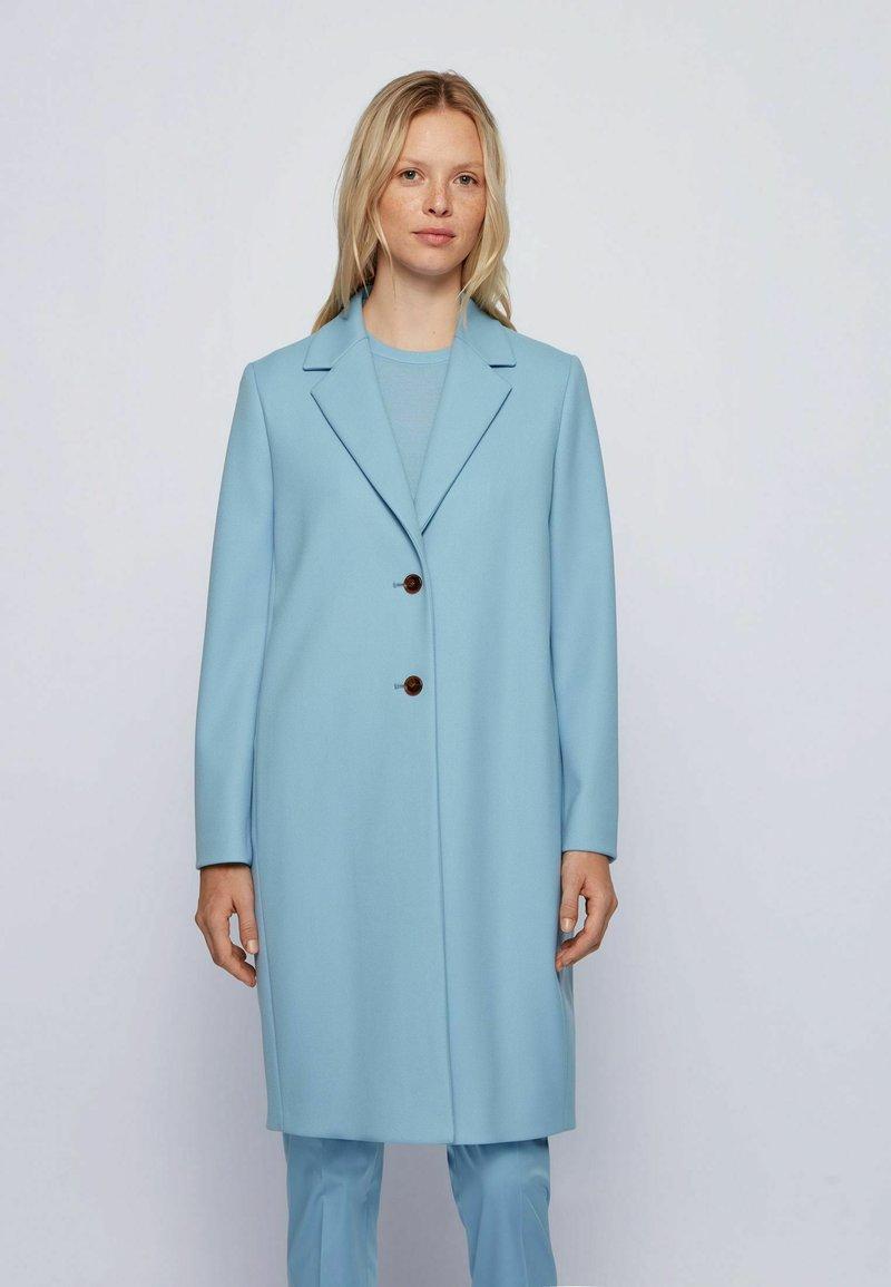 BOSS - Classic coat - light blue