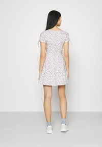 Hollister Co. - DRESS - Jerseykjole - white - 2