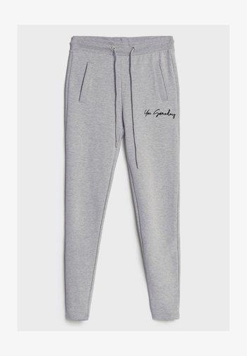 AUS PLÜSCH - Leggings - Trousers - light grey