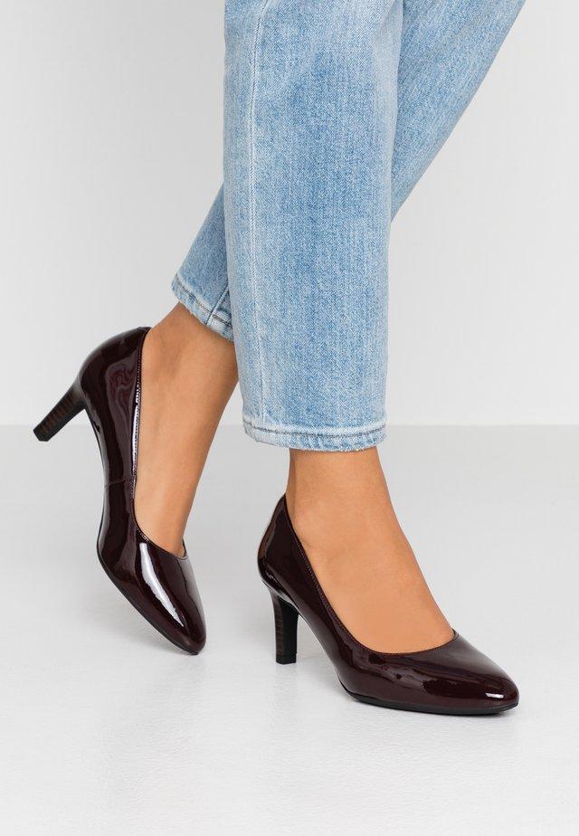 CALLA ROSE - Classic heels - burgundy
