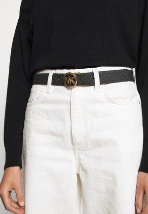 LOGO REVERSIBLE BELT - Belte - black/brown/gold