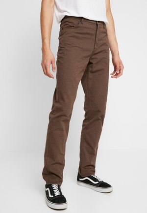 DAVID TROUSERS - Trousers - brown