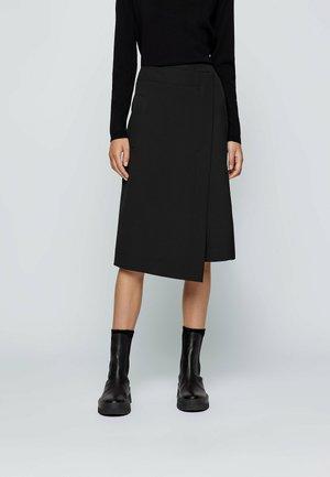 VOLLEMO - A-line skirt - black