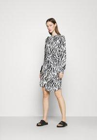 Bruuns Bazaar - BELL BINA DRESS - Day dress - black/white - 1