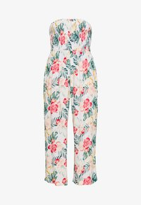 Dorothy Perkins - TROPICAL SHIRRED - Jumpsuit - ivory - 0