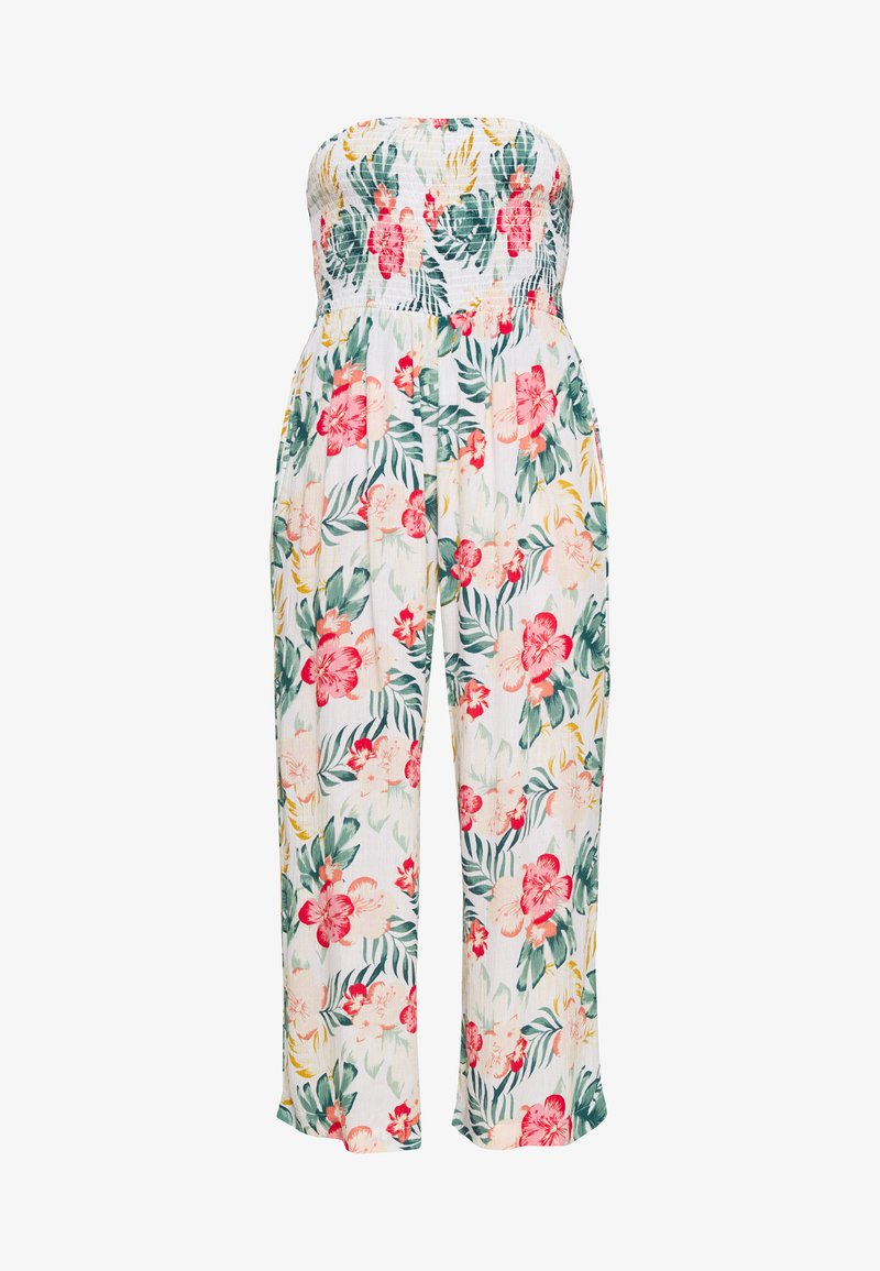Dorothy Perkins - TROPICAL SHIRRED - Jumpsuit - ivory