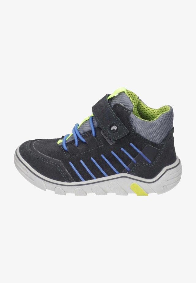 High-top trainers - asphalt/graphit/neongelb