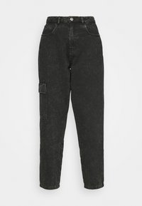 NMMABEL MOM POCKET ANKLE PANTS - Relaxed fit jeans - black
