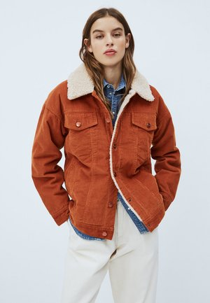 SHELBY  - Winter jacket - dark brick