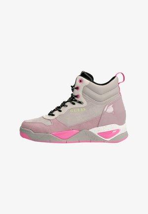 DENSE VELOURSOPTIK - Sneakers hoog - mehrfarbe rose