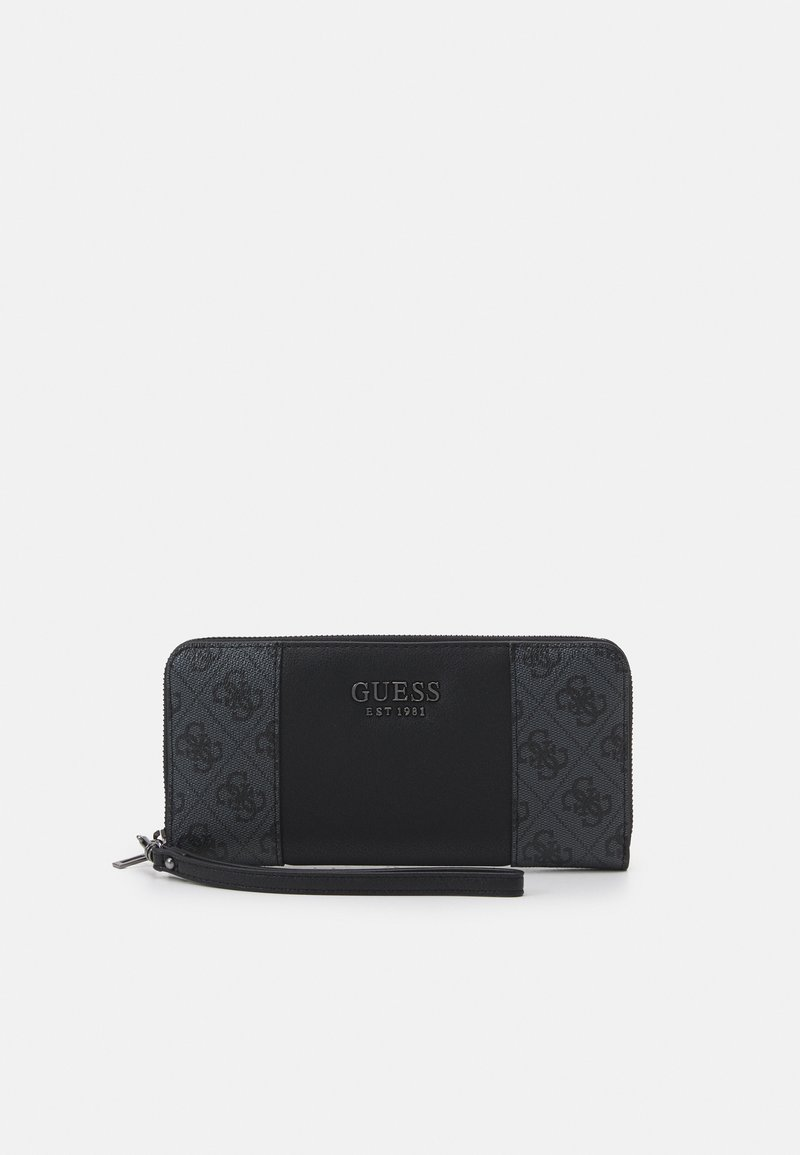 Guess - MIKA LARGE ZIP AROUND - Lommebok - coal