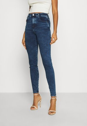 SLANDY HIGH - Jeans Skinny Fit - dark blue denim