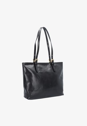 THE BRIDGE STORY DONNA SHOPPER TASCHE LEDER 32 CM - Shopping bag - nero gold colored