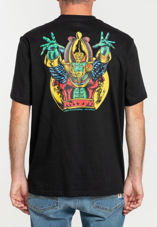 ASAR - T-shirt con stampa - flint black