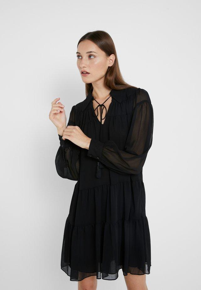 CRINKLE DRESS - Day dress - black