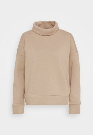 NMASYA NEW ROLL NECK - Sweatshirt - taupe gray