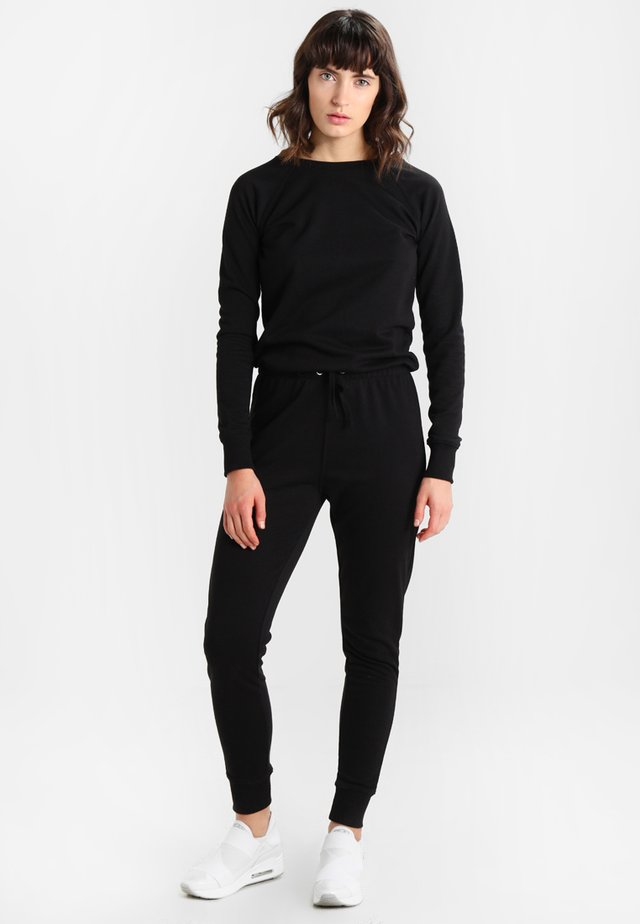 CREW NECK - Tuta jumpsuit - black