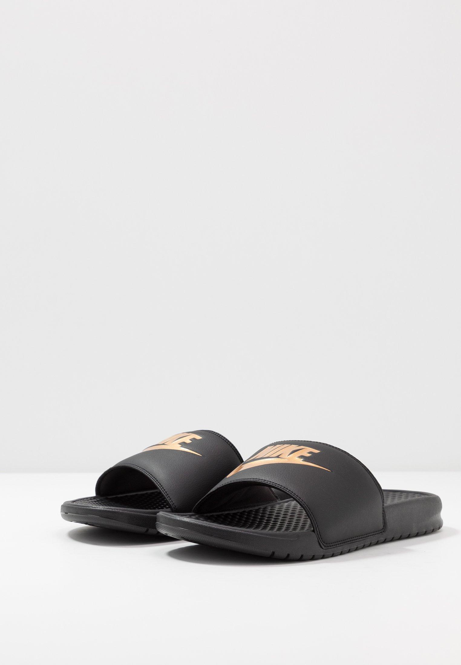 Nike Sportswear BENASSI JDI - Badesandaler - black/laser orange/iron grey