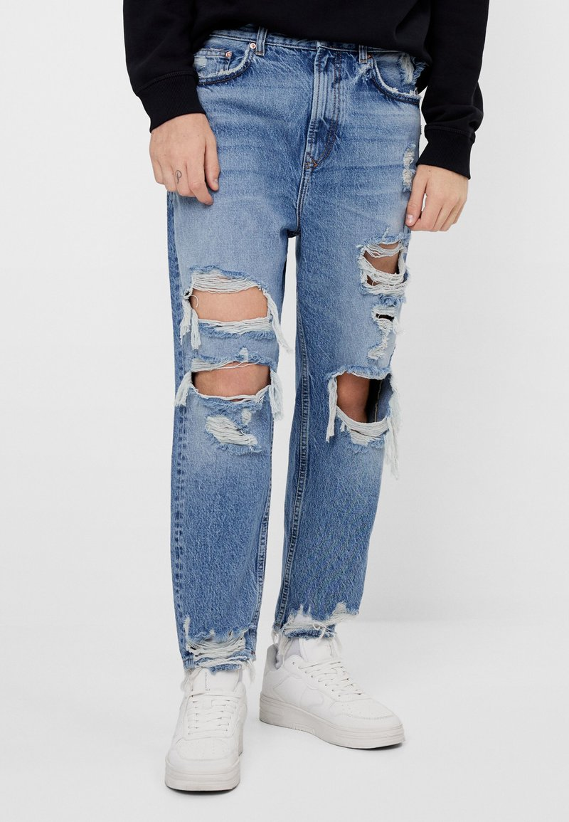 Bershka - Relaxed fit jeans - blue denim