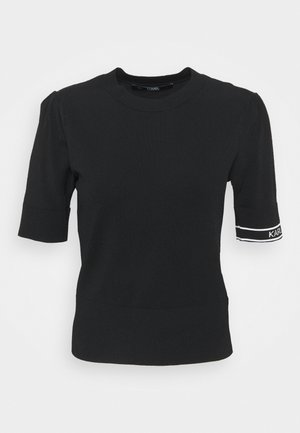 PUFF LOGO - Print T-shirt - black