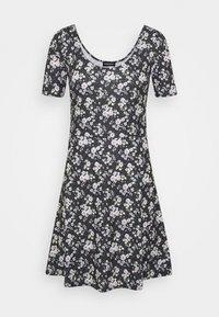 Even&Odd - Day dress - black/multi-coloured - 4