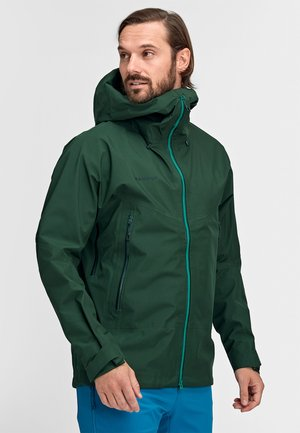 CRATER HOODED JACKET MEN - Hardshell jacket - woods