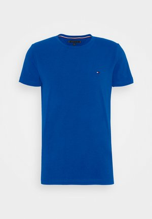 SLIM FIT TEE - T-shirt med print - blue