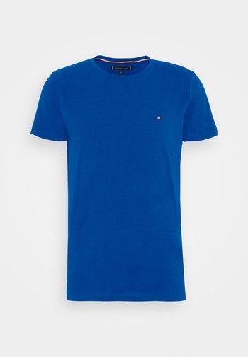 STRETCH SLIM FIT TEE - Basic T-shirt - blue