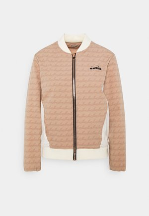 JACKET CHALLENGE - Training jacket - mahogany rose/whisper white