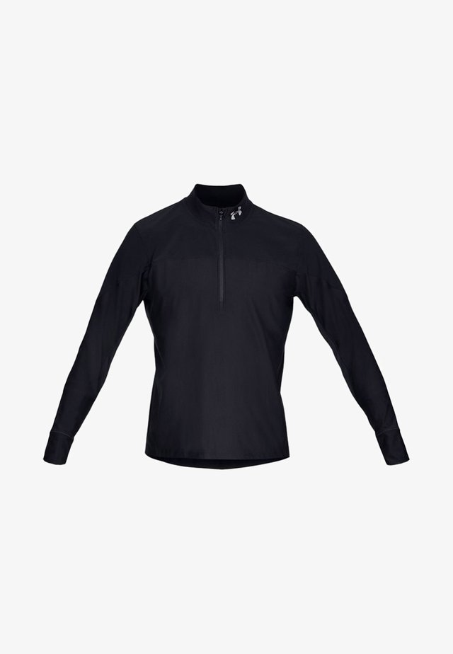 QUALIFIER HALF ZIP - Sports shirt - black