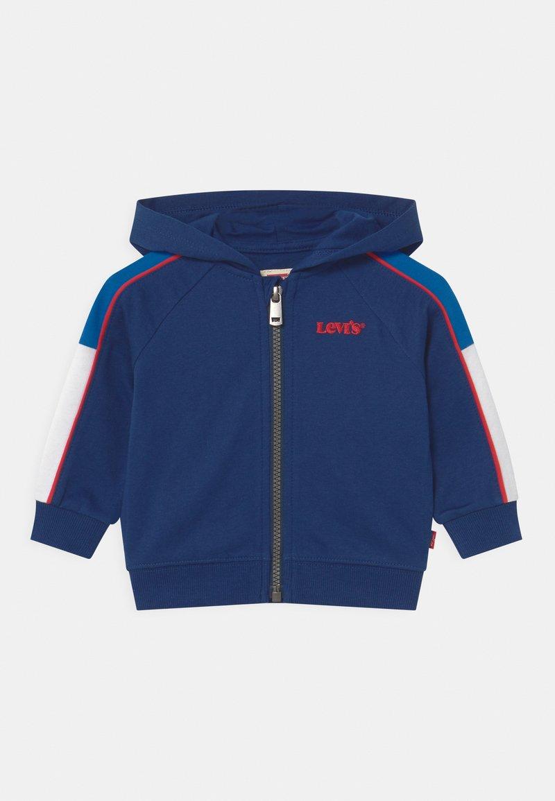 Levi's® - COLORBLOCKED HOODIE - Zip-up hoodie - estate blue
