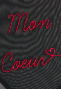 Playful Promises - MON COEUR EMBROIDERED BRIEF - Briefs - black/red - 2