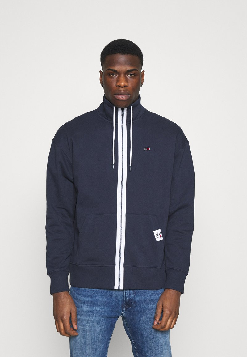 Tommy Jeans - SOLID TRACK JACKET - Zip-up hoodie - blue