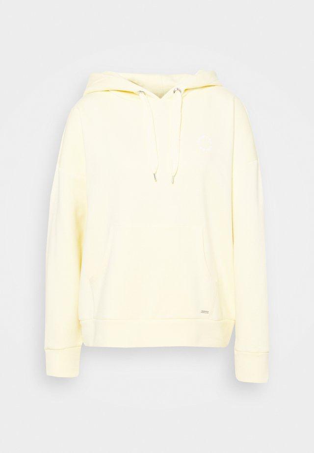 BOLD WORDING HOODY - Sweatshirt - soft yellow