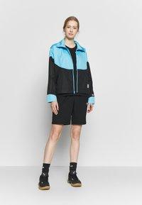 Nike Performance - NBA MIAMI HEAT CITY EDITION WOMENS SNAP JACKET - Training jacket - blue gale /black /laser fuchsia - 1