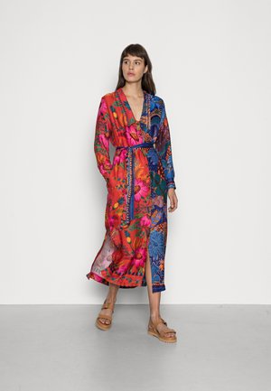 MIXED PRINTS CHEMISE - Day dress - blue