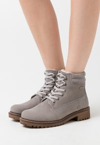 Tamaris - Lace-up ankle boots - light grey - 0