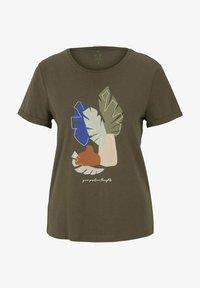 TOM TAILOR - Print T-shirt - grape leaf green - 4