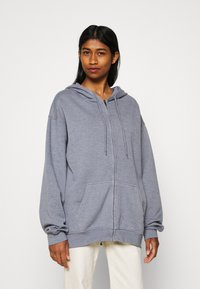 BDG Urban Outfitters - ZIP THROUGH HOODIE - Huvtröja med dragkedja - pacific blue - 0