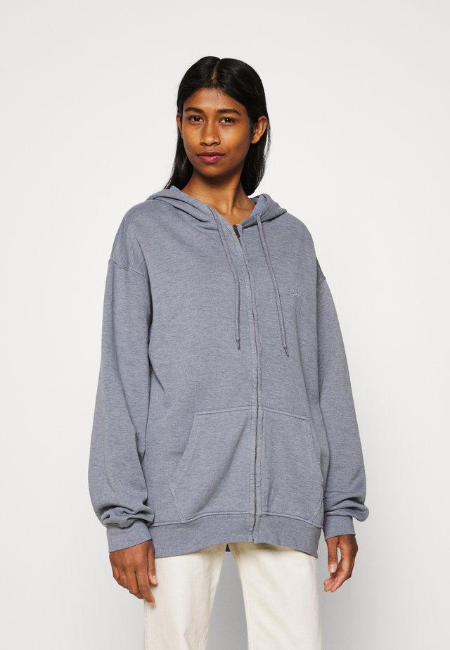ZIP THROUGH HOODIE - Zip-up hoodie - pacific blue