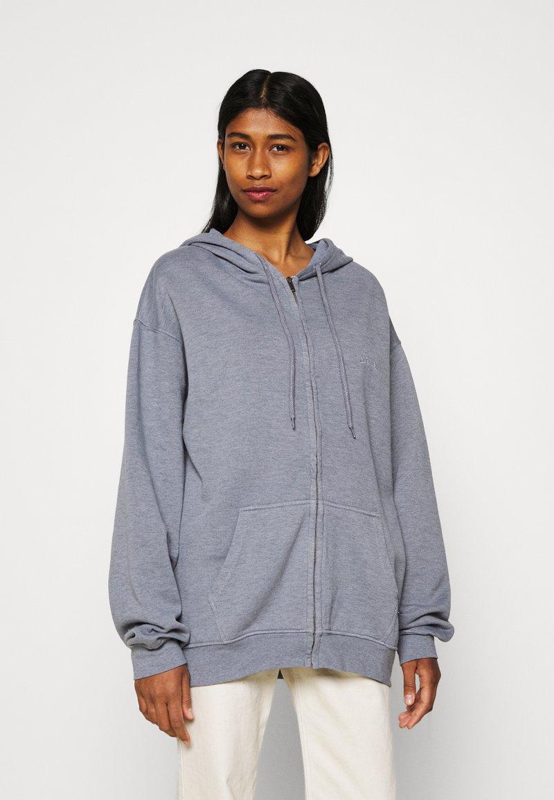 BDG Urban Outfitters - ZIP THROUGH HOODIE - Huvtröja med dragkedja - pacific blue