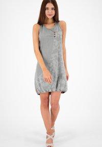 alife & kickin - Denim dress - light grey denim - 1