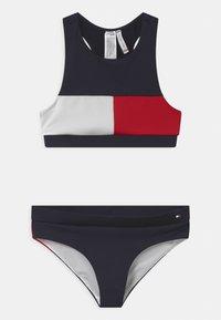 Tommy Hilfiger - CROP SET - Bikini - blue - 0