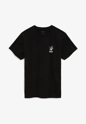 MN REALITY CORAL SS - Print T-shirt - black