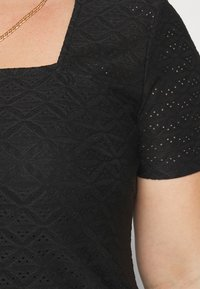 Even&Odd Curvy - Stickerei Basic T-shirt - Jednoduché triko - black - 4